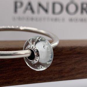 Pandora White Fizzle Glass Charm #791617CZ